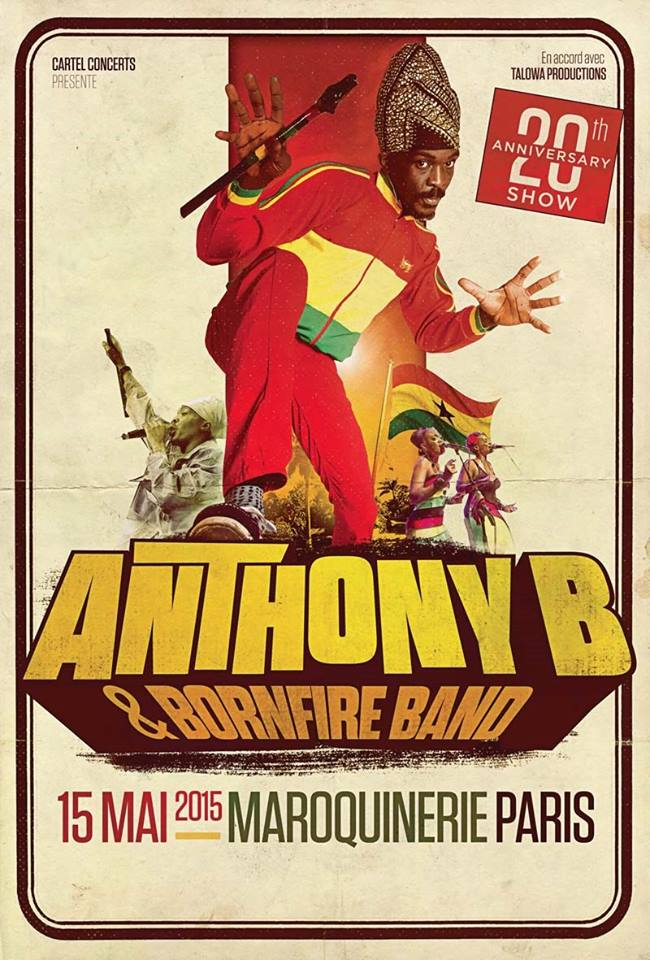 Concert : Anthony B à Paris !