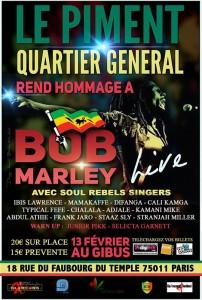 Concert Hommage à Bob Marley à Paris !