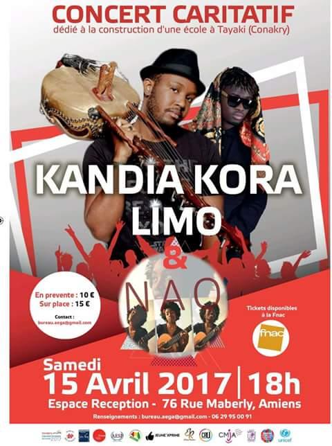 Concert caritatif de Kandia Kora à Amiens