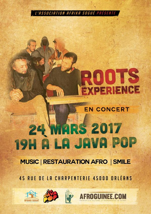 Roots Experience en concert à Orléans, le 24 mars !