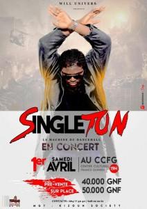 Singleton en concert au CCFG , le 1er  avril !