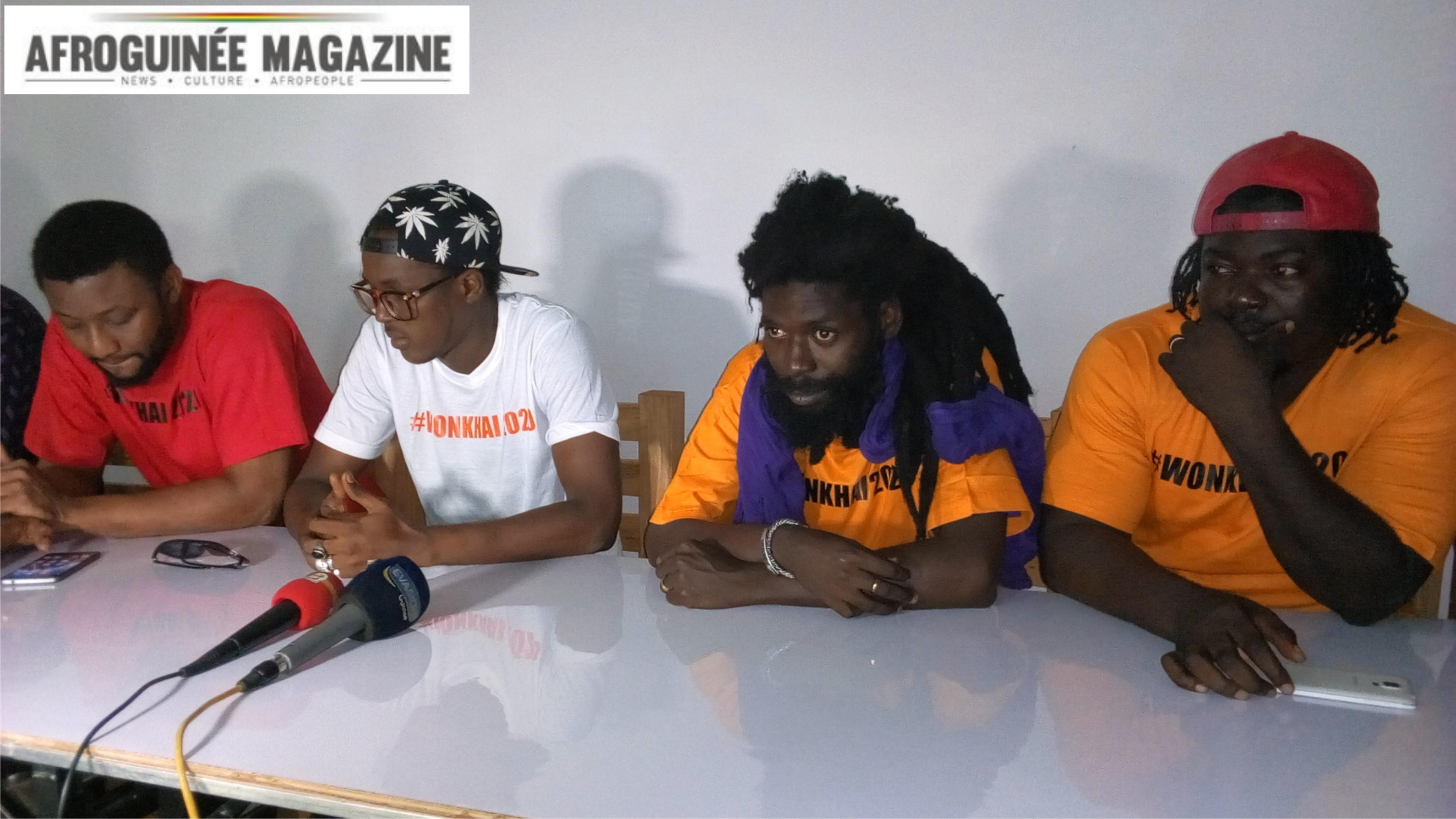 Le collectif ''Wonkhai 2020'' face à la presse. (Vidéo)